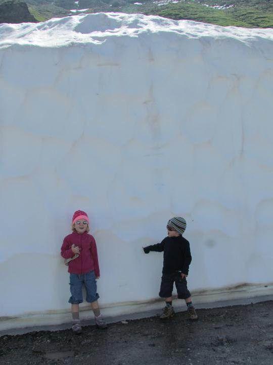 Un beau mur de neige pour un 13 juillet!