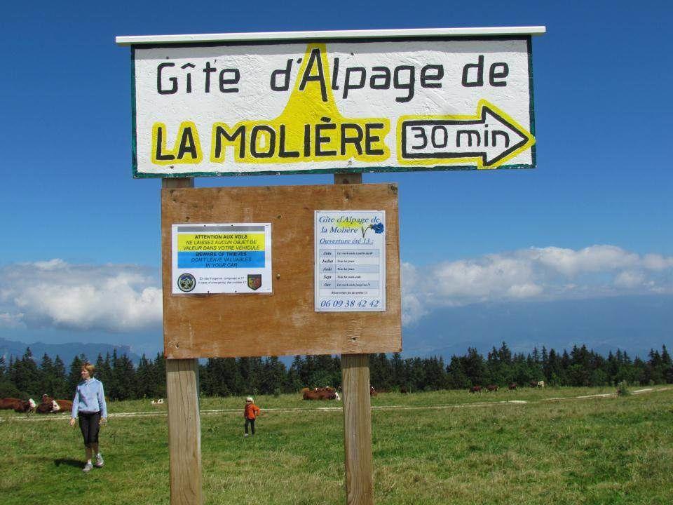 Le gîte d'Alpage de la Molière, c'est bien par là!