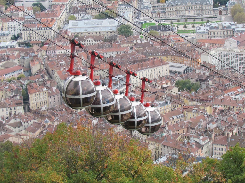 La Bastille offre une belle vue sur Grenoble