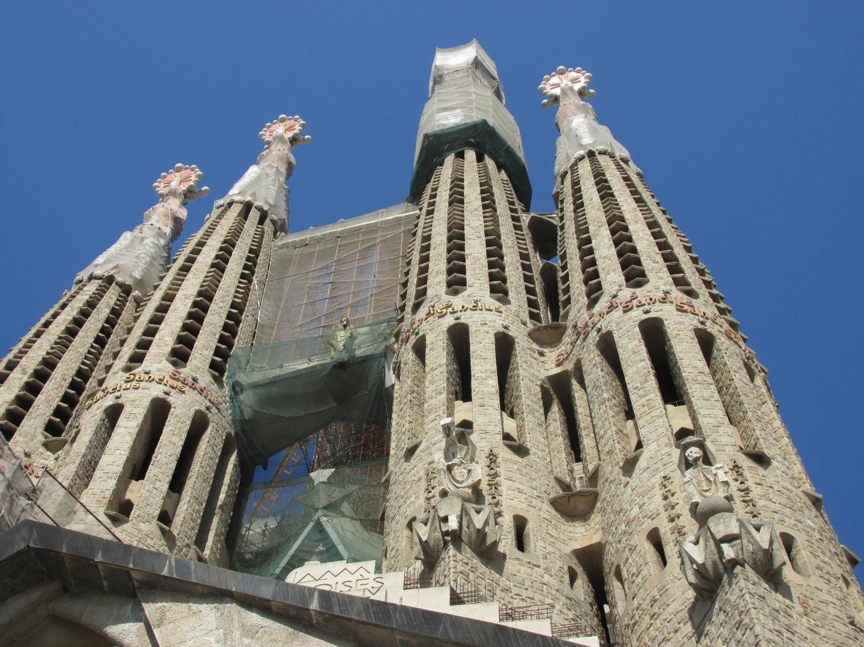 La Sagrada Familia vue de l'extérieur