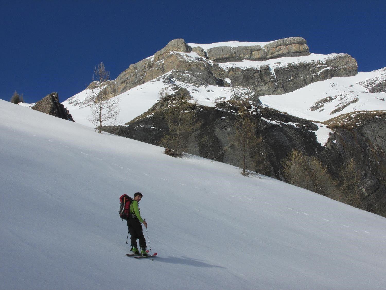 Adrien dans la montée vers le Grand Renaud.
