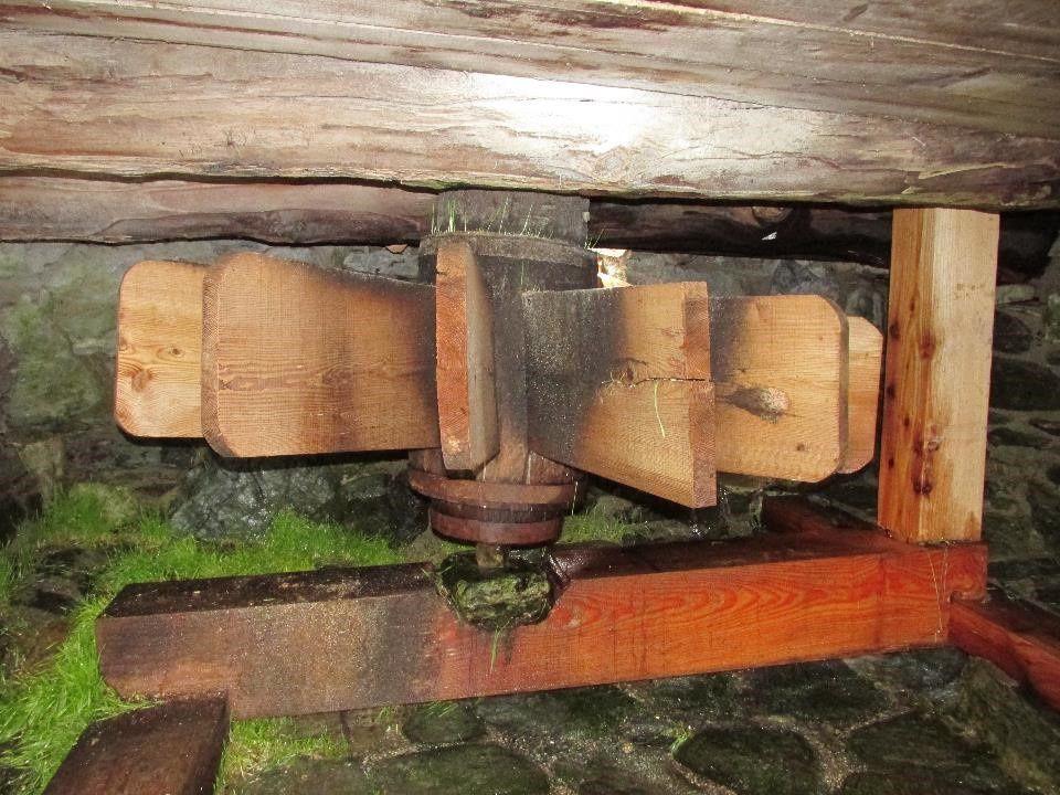Les roues d'entraînement en partie latérale ou inférieure des moulins