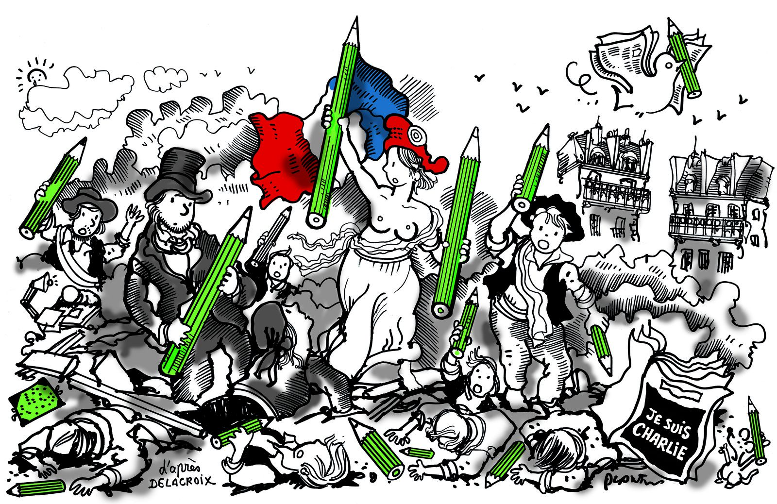 Dessin de Plantu après l'attaque de Charlie Hebdo.