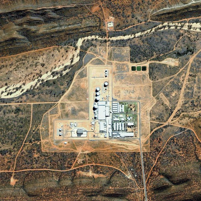 Pine Gap Joint Defence Space Research Facility Alice Springs, Australia