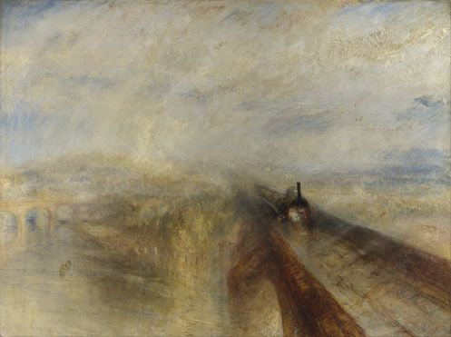 """Rain, steam and speed"" par W.Turner, 1844, the National Gallery, London"