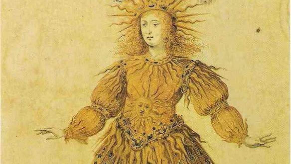 Louis XIV en Apollon dansant le ballet royal de la nuit, 1653, anonyme