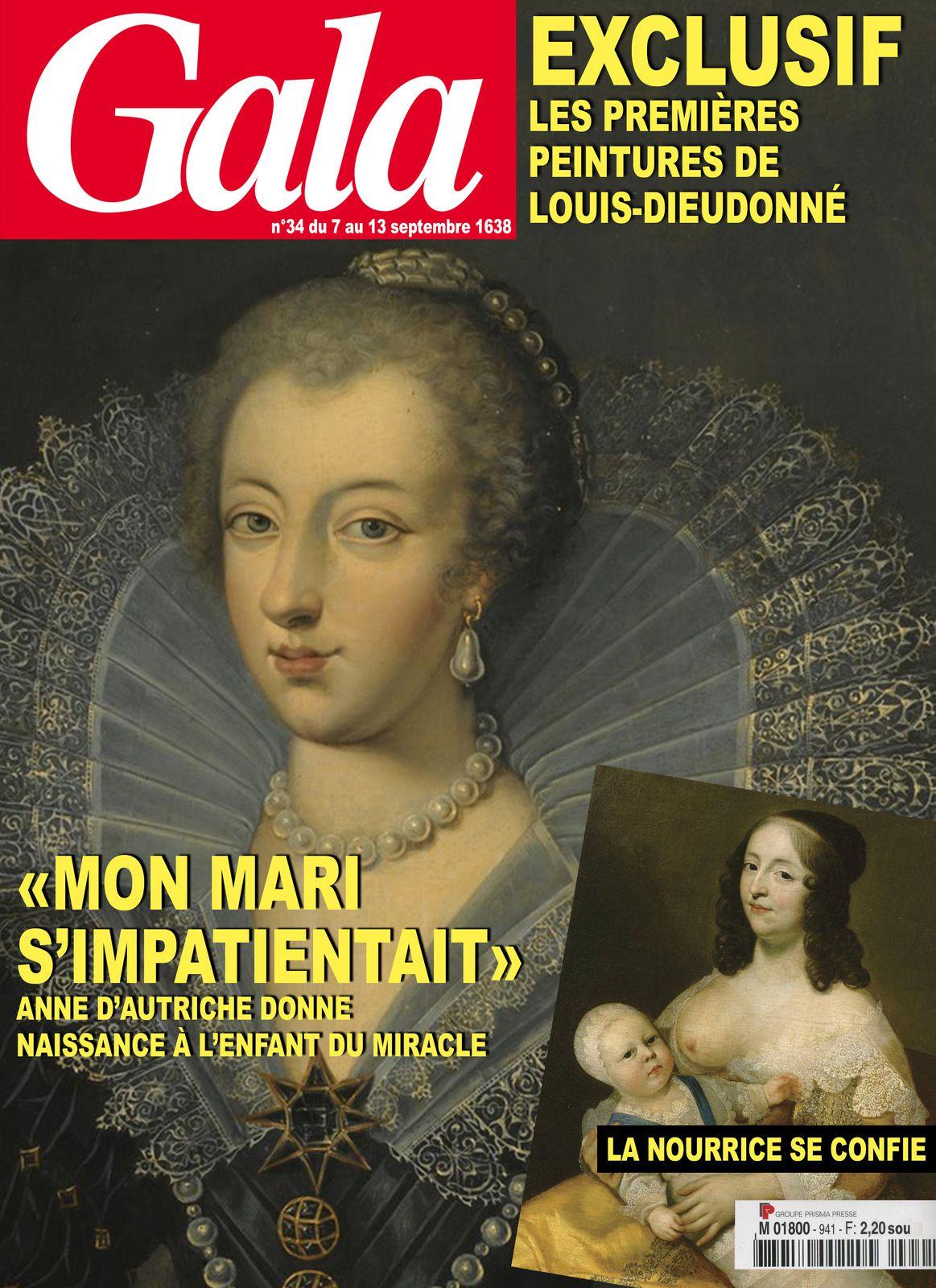 La naissance de Louis XIV, Une de Gala de septembre 1638