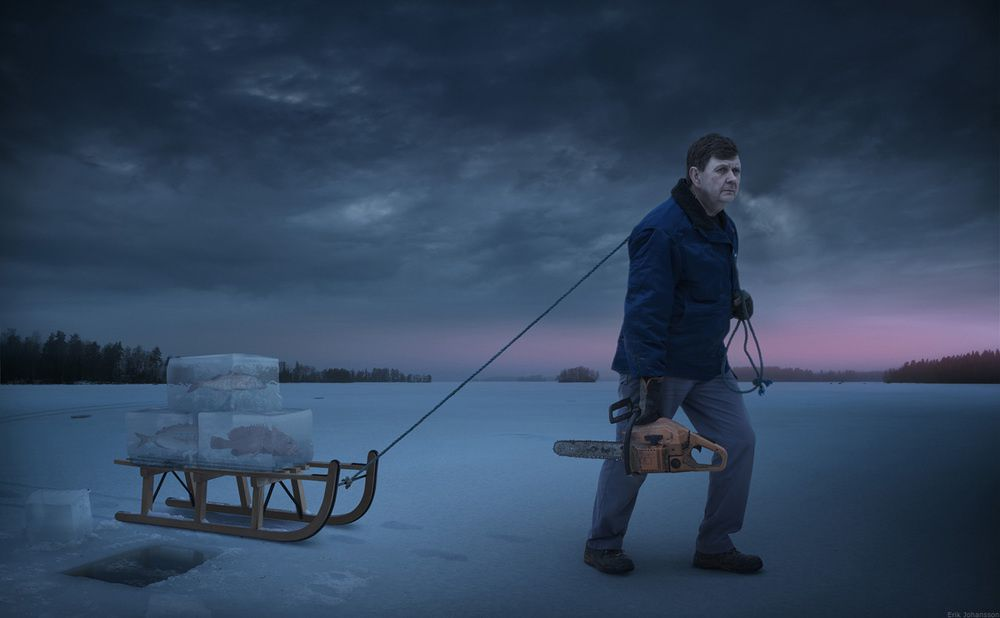 Erik Johansson, Fresh frozen fish, 2011