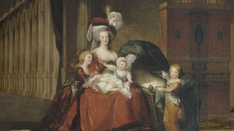 """""""Marie-Antoinette, reine de France et ses enfants"""" d'Elisabeth Vigée Lebrun (1787)"""