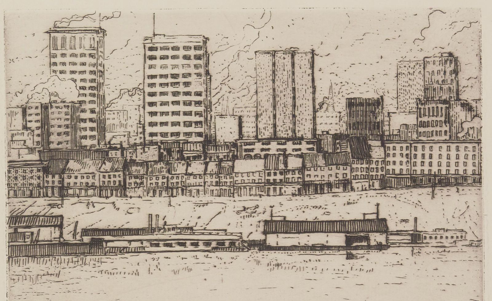 The skyline from the river : Ten etchings from Pittsburgh (1905)