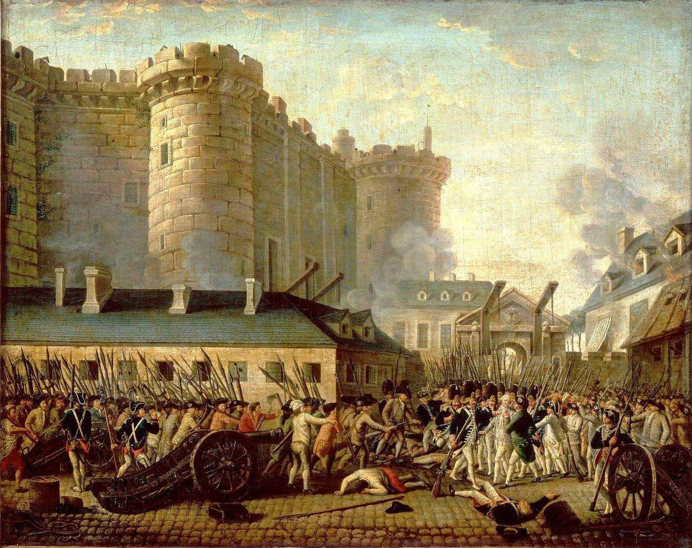 Prise de la Bastille et arrestation du gouverneur M. de Launay, le 14 juillet 1789. ANONYME