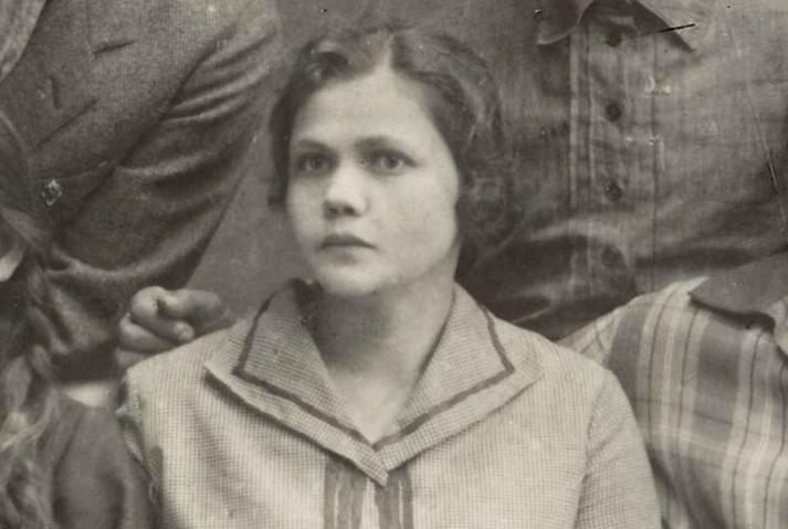 Serafima Fedorovna Voronina, institutrice et dès le début de la guerre, ouvrière à l'usine Octobre Rouge.