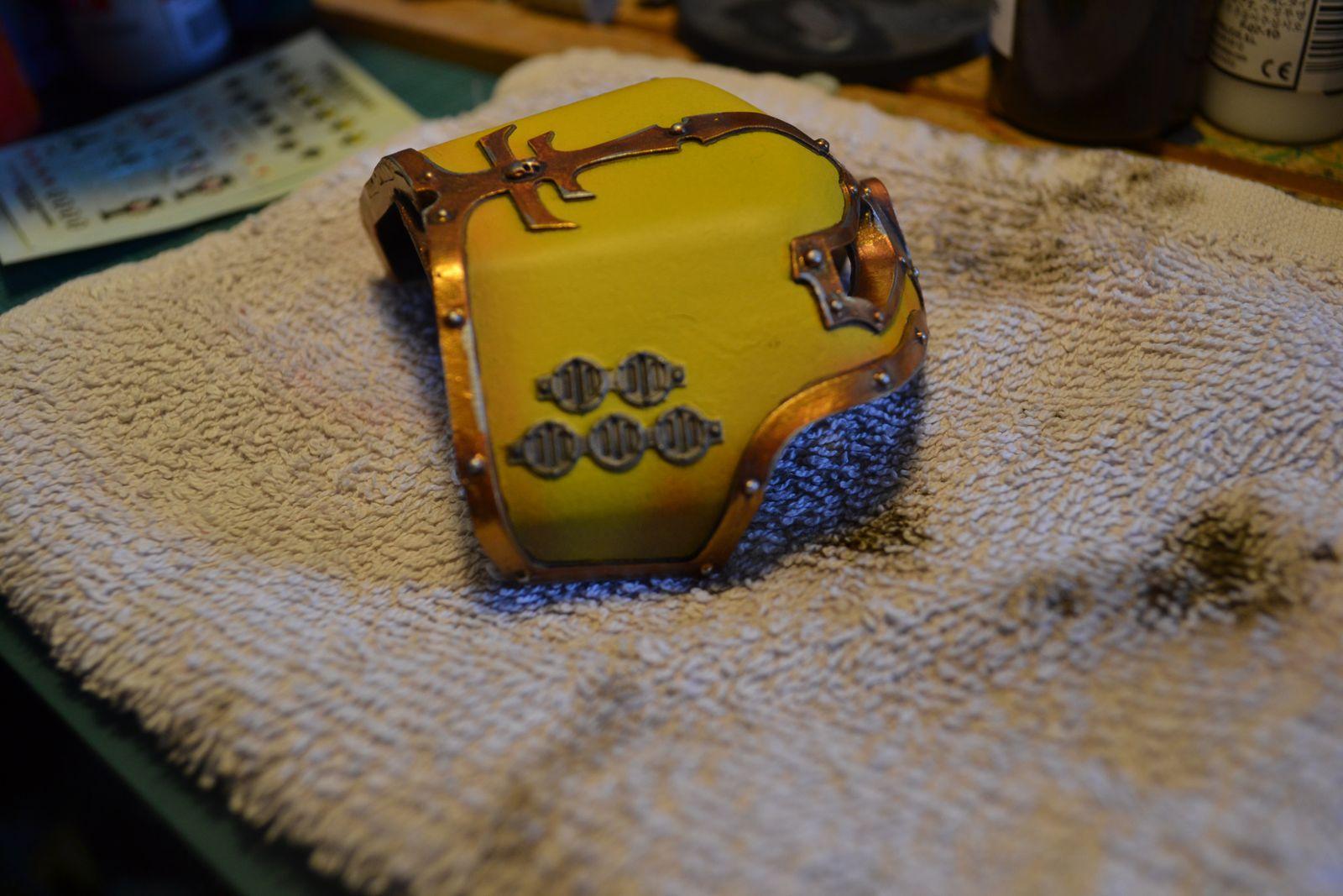 Titan Reaver, application des pigments - Legio Astorum