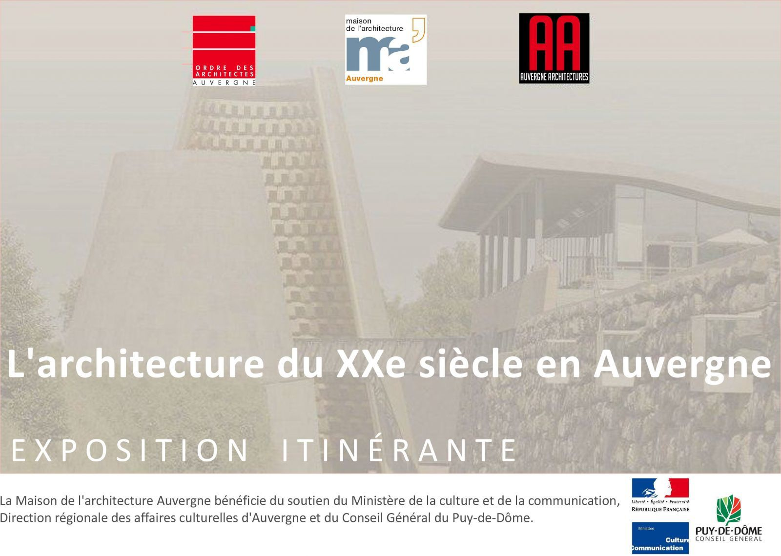 EXPO l'ARCHI DU XXeme en AUVERGNE