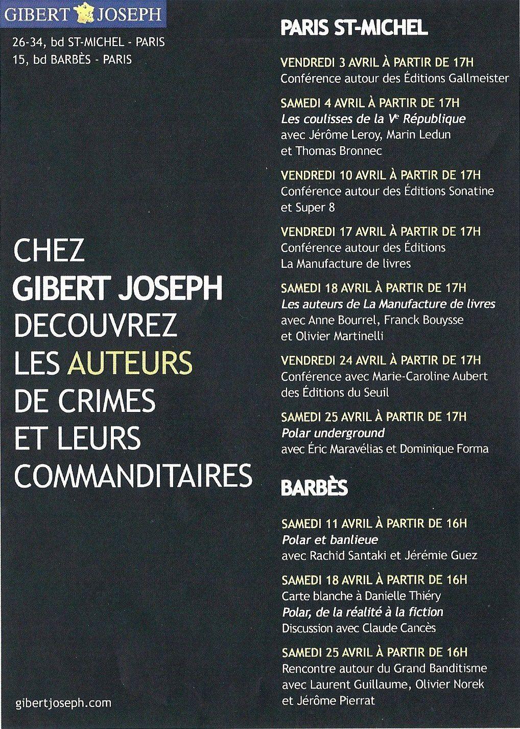 Rencontres d'avril chez J. Gibert
