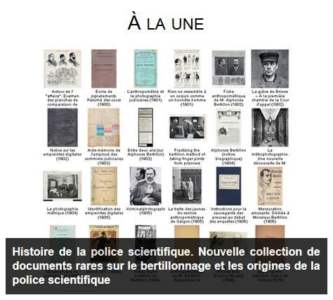 Police scientifique & Bertillonnage : 100 documents originaux