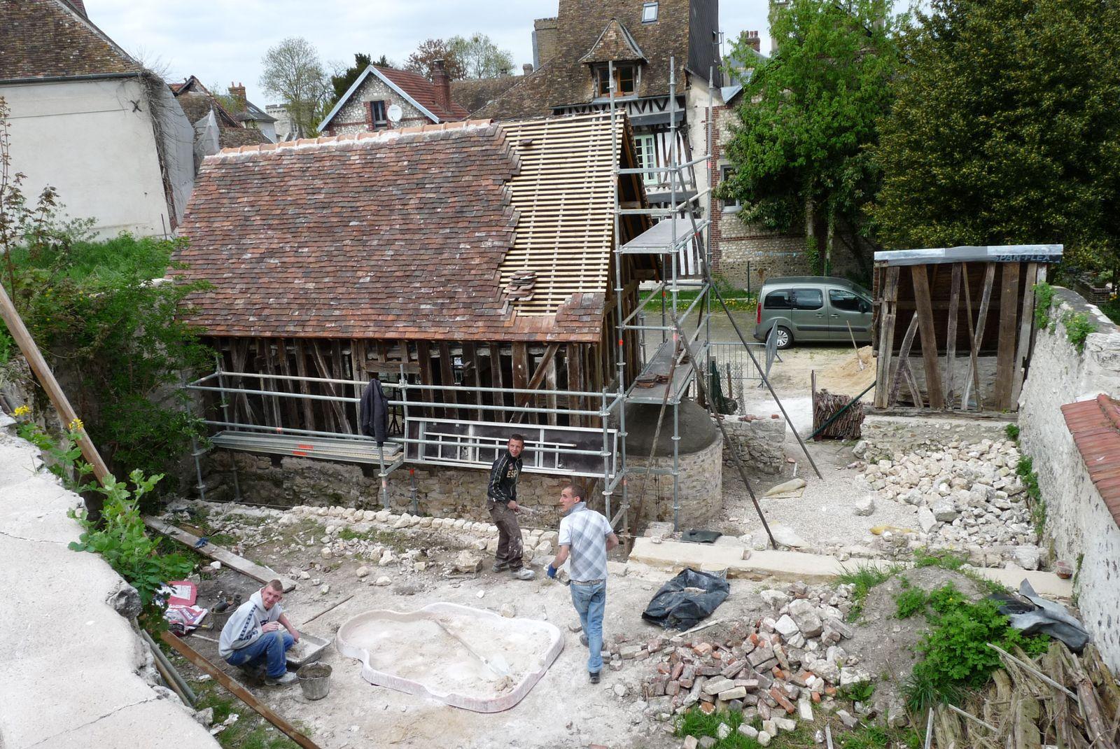 Souvenir de la dernière étape de restauration (cliché Armand Launay, 2013).