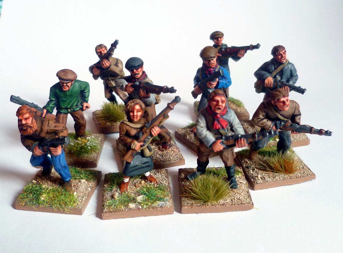 "Les 10 combattants du réseau ""Attila"". Figurines 28mm Black Tree Design."
