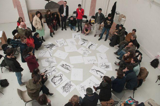 Workshop à l'ENSBA Paris - grâce à Hajar ! - avec les étudiants de l'ENSBA, de l'ENSAD & de l'ENSAPC. la prépa art Koronin était la seule prépa art représentée.