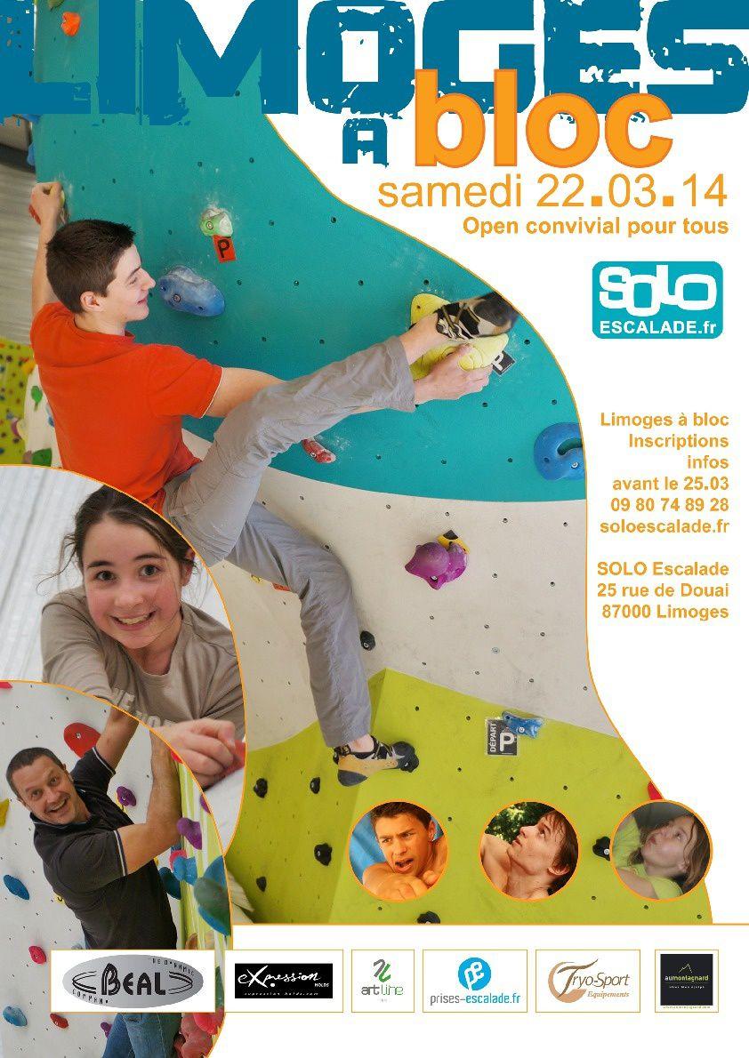 Samedi 22 mars, open de bloc de la salle SOLO de Limoges