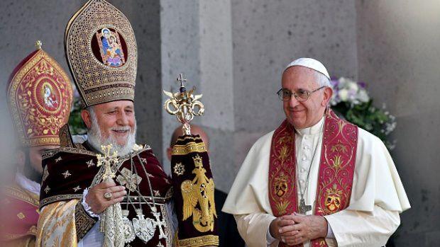 Arménie : le pape veut hâter l'unité avec les Églises orientales
