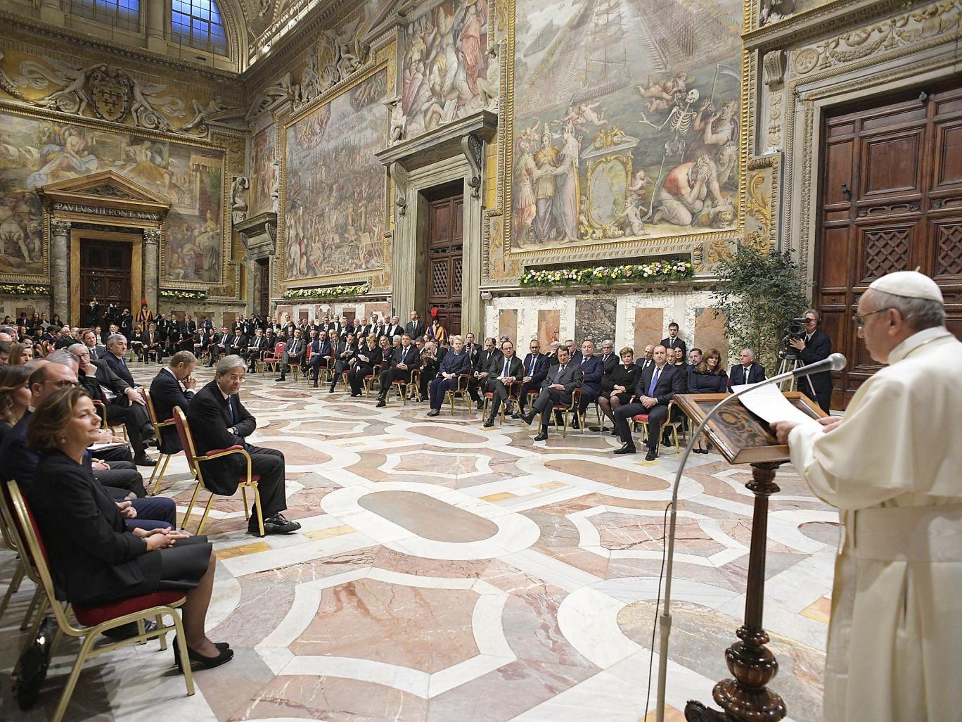 Le pape appelle les dirigeants européens à retrouver les valeurs fondamentales de l'Union
