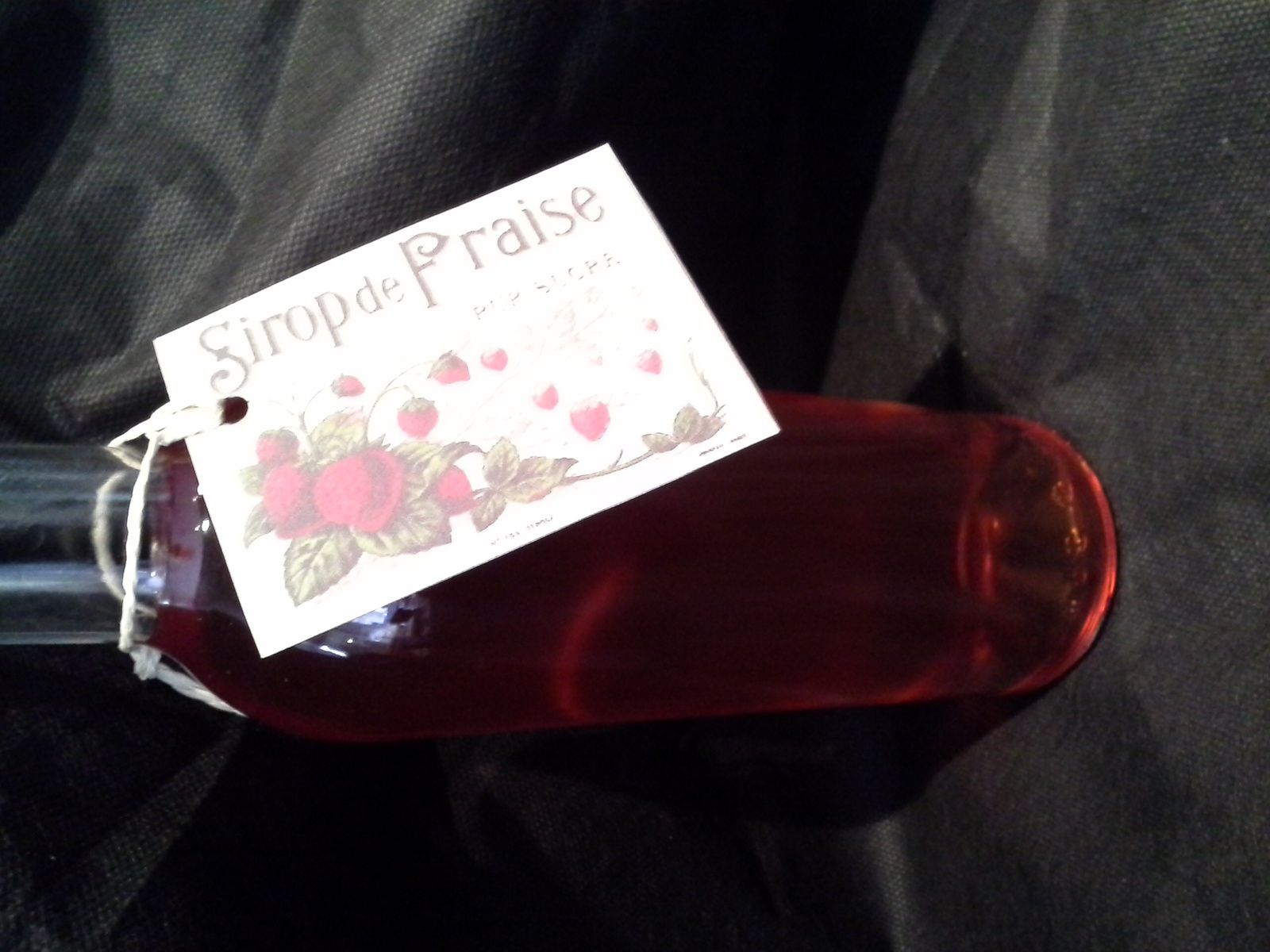 sirop de fraises tagada ( cadeau gourmand )