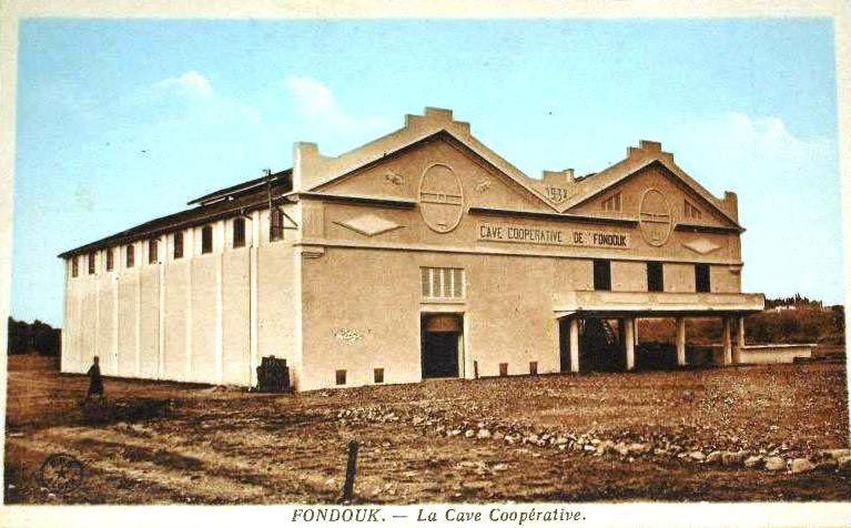 Cave coopérative de Fondouk (Kkemis El Khechna) créée en 1932.