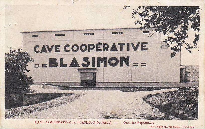 BLASIMON (Gironde) : La cave coopérative intercommunale.