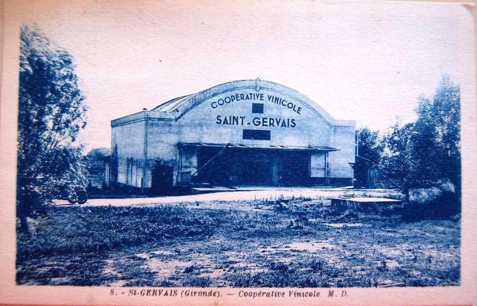SAINT-GERVAIS (Gironde) : La Cave Coopérative.