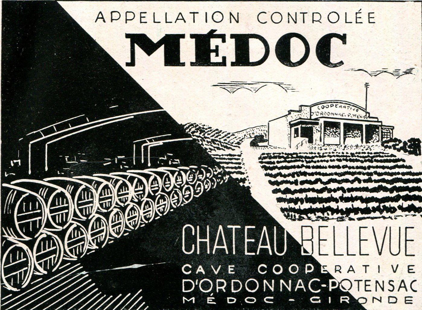 ORDONNAC (Gironde) : la cave coopérative.