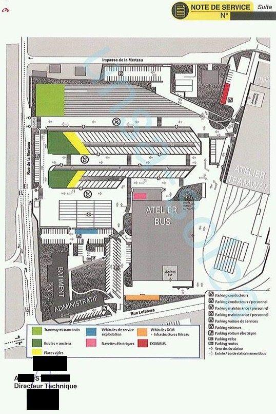 Note de Service 115/15 - Modification des zones de stationnement