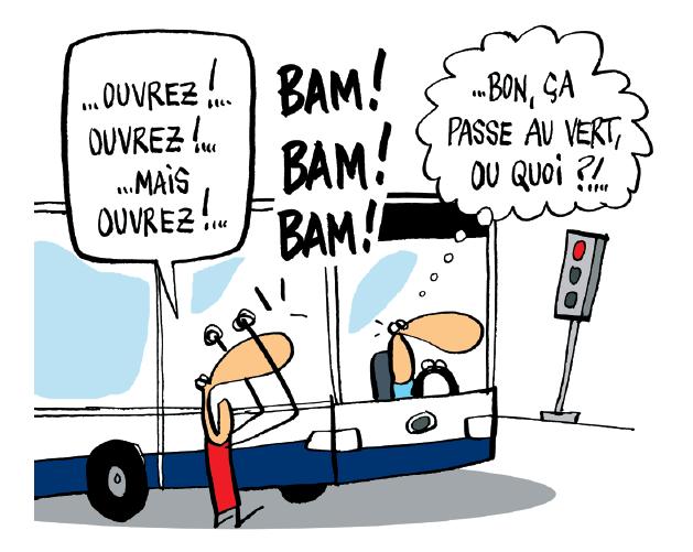 Campagne de sensibilisation &quot&#x3B;Gagner du temps à l'arrêt&quot&#x3B; à Genève