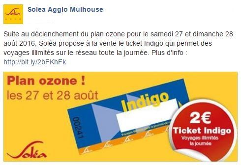 Plan ozone : Ticket indigo !