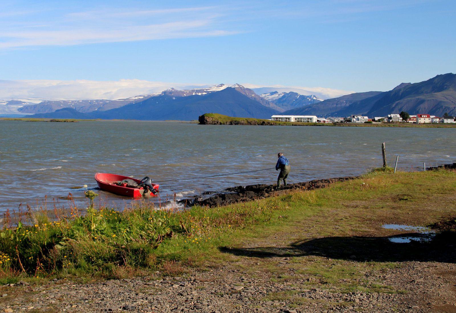 premier arrêt à Höfn avec vue sur les nombreuses langues de glacier