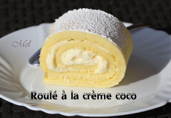 Roulé à la crème Coco