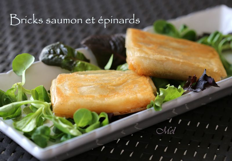 #MyCookChallenge4 - Bricks de saumon et épinards