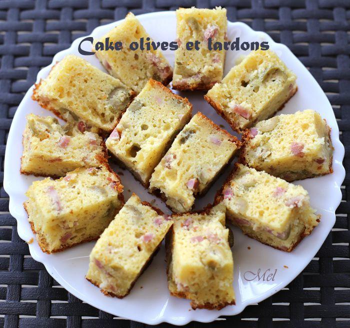 Cake olives et lardons