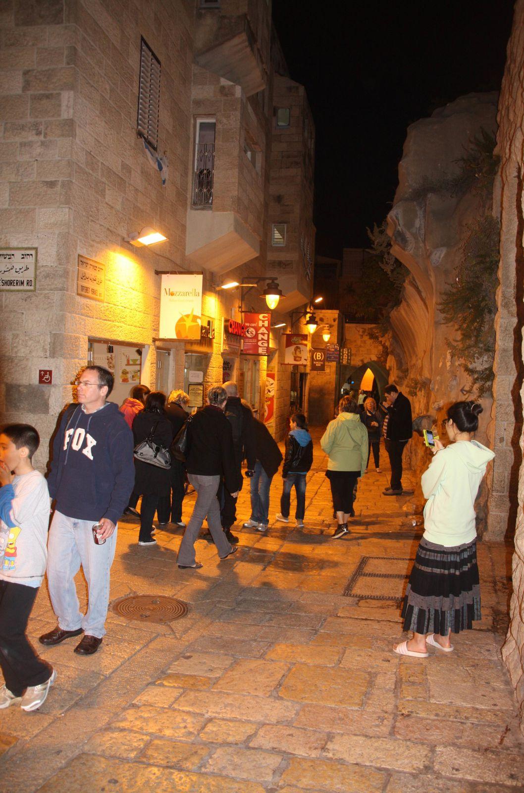 Notre première soirée à Jérusalem au Kotel