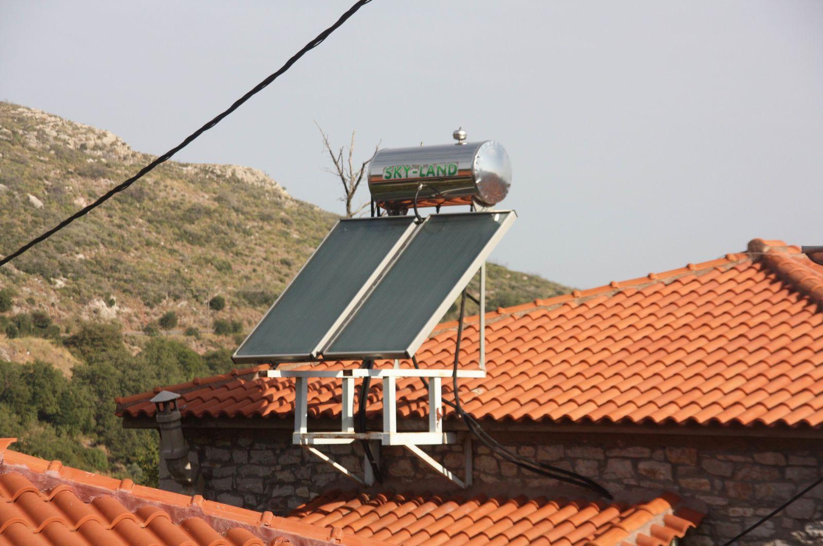 Sur les toits grecs