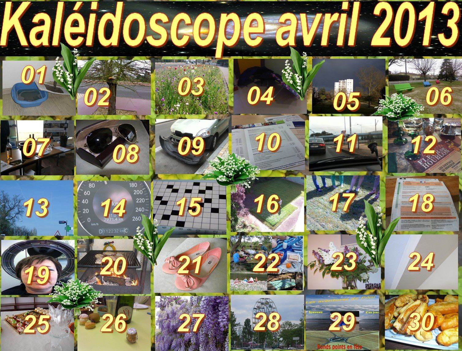 Kaléidoscope d'avril 2013