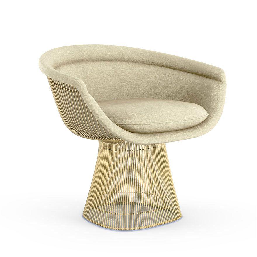 Platner Arm Chair Gold by Warren Platner for Knoll