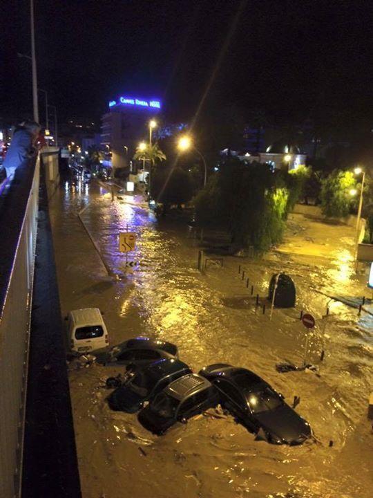 Inondations à Nice.
