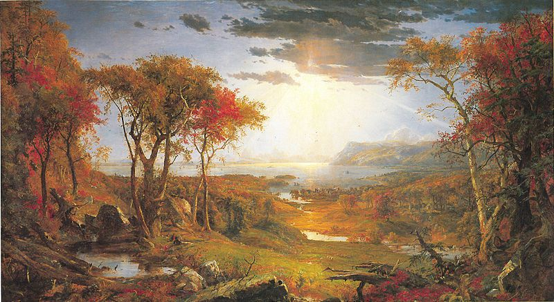 Jasper Francis Cropsey : Autumn on the Hudson River