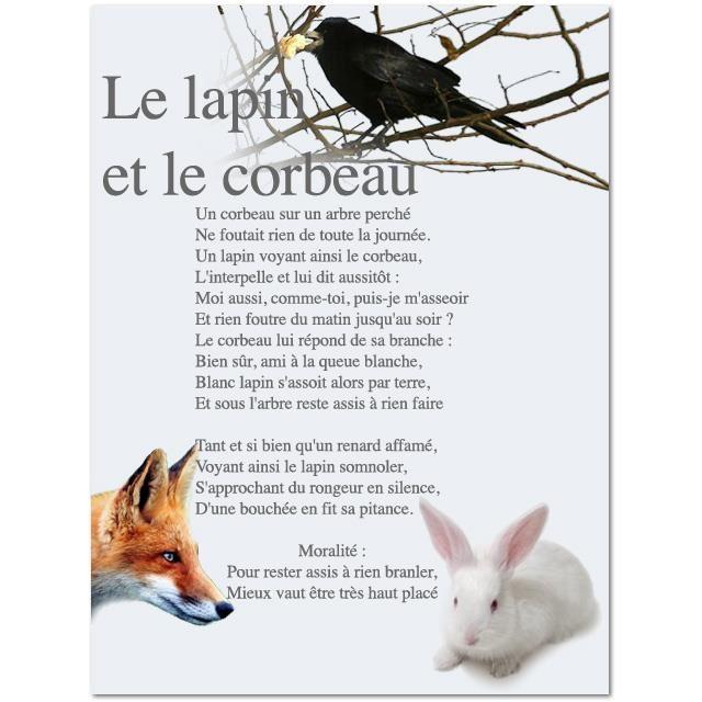 Le lapin, le corbeau et le renard