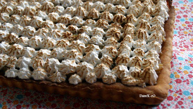 La tarte amandine au chocolat recouverte de pics ! Ma tarte à la rhubarbe....La traditionnelle Forêt Noire... et un tiramisu mangue-passion familial. Cliquez sur les liens ci-dessous pour acceder aux recettes