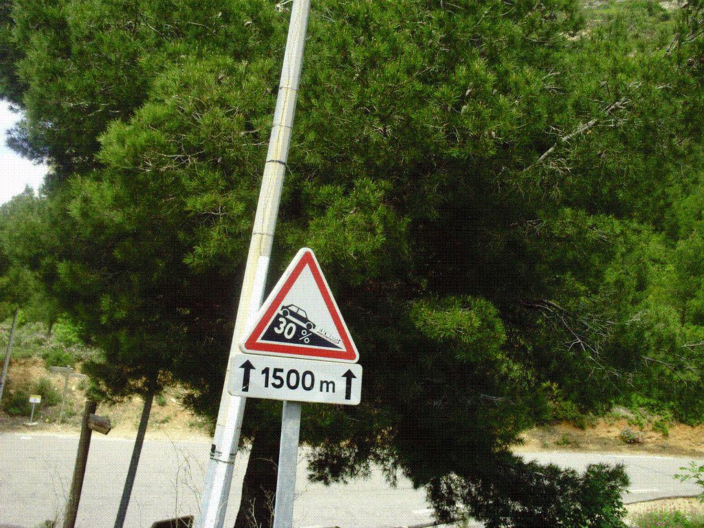 LA DSCENTE VERS LA VILLE DE CASSIS ANNONCE 30%.........................30% DE DESCENTE