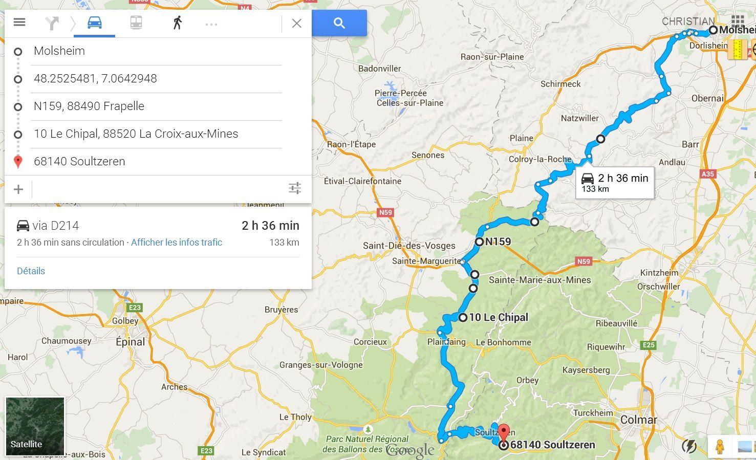 133 km DEPUIS MOLSHEIM