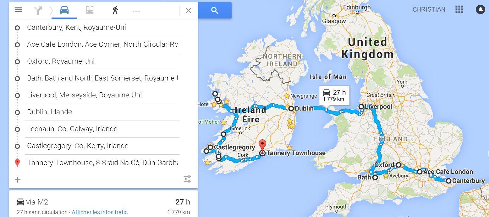 Goldwing - Retour du Connemara et le Sud Irlande en moto 11/10