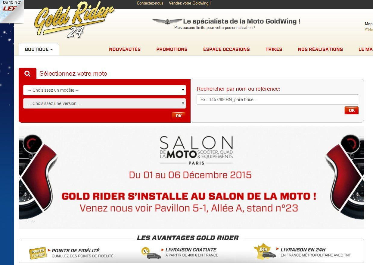Goldwing - le salon de la moto 2015 à Paris